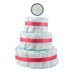 Basic 3-Tier Pink Nappy Cake