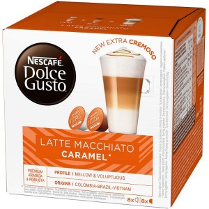 Nescafe Dolce Gusto Latte Macchiato Caramel Pods (x16)