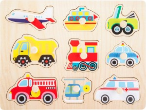 Small Foot Vehicles Wooden Peg Puzzle