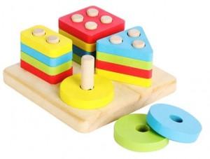 Montessori Shape Stacking 4 in 1 set