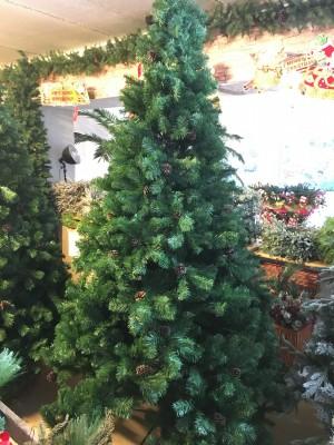 Christmas Tree with Pine Cones (2.60m / 8.5')