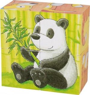 Goki - Animals Cube Puzzle 4pcs