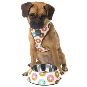 FuzzYard Dog Bowl - Go Nuts for Donuts - Small