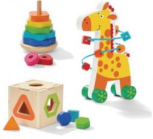 Giraffe 3 in 1 Wooden Gift Set