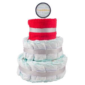 Basic 3-Tier Multi-Coloured Nappy Cake