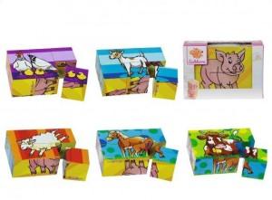 Farm Animals Cube Puzzle (6pcs)
