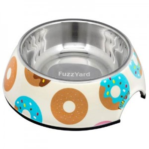 FuzzYard Dog Bowl - Go Nuts for Donuts - Large