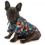 FuzzYard Dog Hawaiian Shirt - Mahalo - Size 2