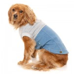 FuzzYard Flynn Dog Sweater - Grey & Denim - Size 1