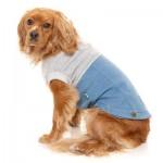 FuzzYard Flynn Dog Sweater - Grey & Denim - Size 2
