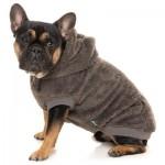 FuzzYard Plush Teddy Dog Hoodie - Truffle - Size 1