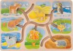 Goki - Animal Homes Sliding Puzzle