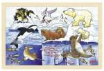 Goki - Arctic Animals Framed Puzzle