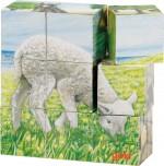 Goki - Baby Animal Cube Puzzle