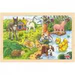 Goki - Baby Animals Framed Puzzle