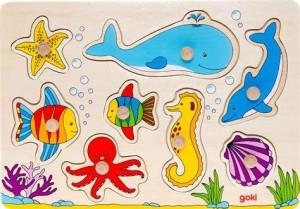 Goki - Sea Animals Lift-Out Puzzle