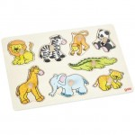 Goki - Wild Animals Lift-Out Puzzle