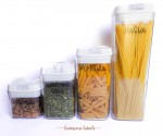 Lovesome Labels - x8 Flip Jars Containers (FREE Labels)