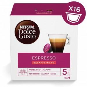 Nescafe Dolce Gusto Espresso Decaf Pods (x16)