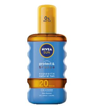 Nivea Sun Protect & Bronze Oil Spray SPF20 (300ml)