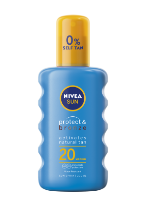 Nivea Sun Protect & Bronze Spray SPF20 (200ml)