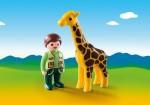 Playmobil Zookeeper with giraffe (9380)