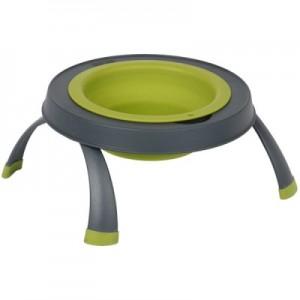 Popware Collapsible Raised Feeder - Single - Green - Small