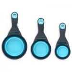 Popware KlipScoop Food Scoop & Measuring Cup - Blue - Medium