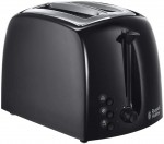 Russell Hobbs Textures Two Slice Black Plastic Toaster (21641)