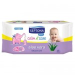 Septona Baby Wipes Aloe Vera 64pcs