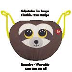 TY Baby Dangler Brown Sloth Mask