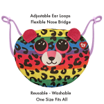 TY Baby Dotty Multicolour Leopard Mask