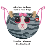 TY Baby Kiki Striped Grey Cat Mask