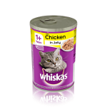 Whiskas 1+ Can with Chicken in Jelly (24x390gr)