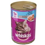 Whiskas 1+ Can with Tuna in Jelly (24x390gr)