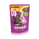 Whiskas 1+ Cat Pouch with Chicken in Jelly (24x100gr)