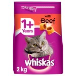 Whiskas 1+ Complete Dry Cat Food Beef (14x350gr)
