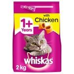 Whiskas 1+ Complete Dry Cat Food Chicken (14x350gr)