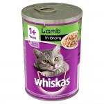 Whiskas 1+ Years Cat Tin with Lamb in Gravy (24x400gr)